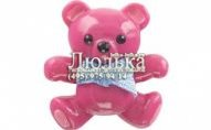 Jibbitz 3D Teddy Bear Fuchsia - card